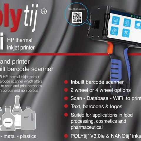 POLYtij S2i Mobile barcode scanner and printer
